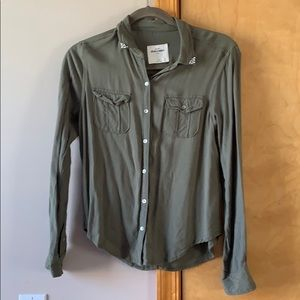 Olive green Abercrombie top